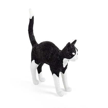 Cat Lamp Jobby Black & White
