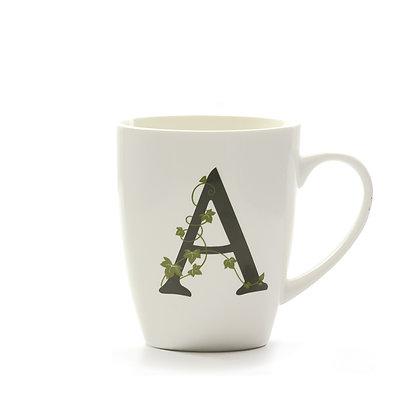 Mug con lettera dalla A alla N