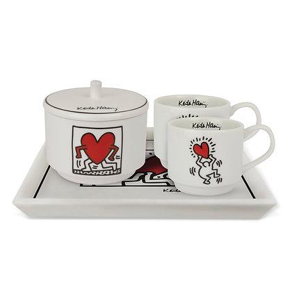 Set 2 caffè - Vassoio - Zuccheriera K.HARING