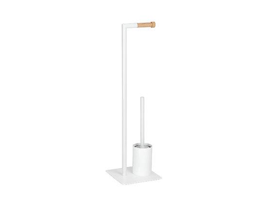 Colonna WC Bianco/Legno