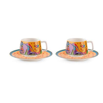 "Set 2 tazze caffè ""Jungle"" - Gialle"