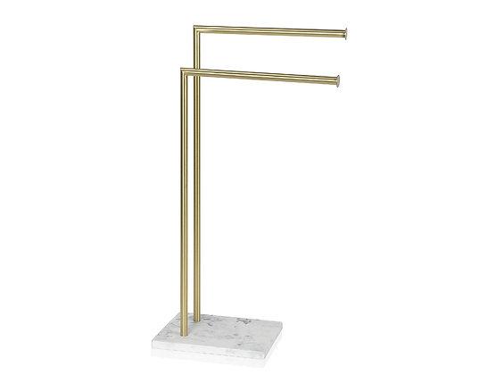 Colonna Porta asciugamani Oro/Marmo