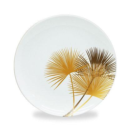 Set 4 piatti in New Bone China con decoro oro