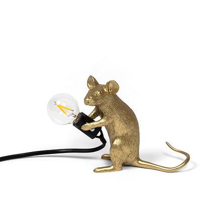 Mouse Lamp Gold Mac