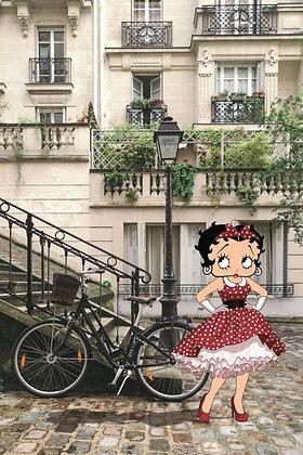 Stampa 30x40 Betty Boop Paris