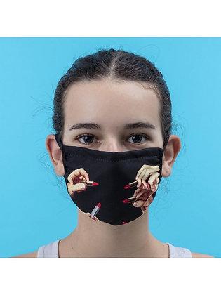 Mascherina Toiletpaper - Lipstick Black