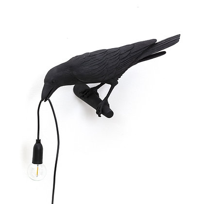 Bird Lamp Looking Left Black