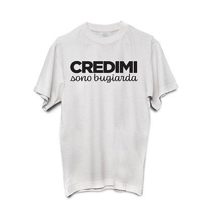 T-shirt CREDIMI sono bugiarda