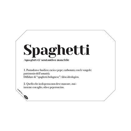 """Tovaglietta dizionario in Cellulosa - """"Spaghetti"""""""