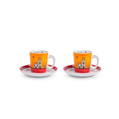 Set 2 tazzine Caffè Le Casette Arancione