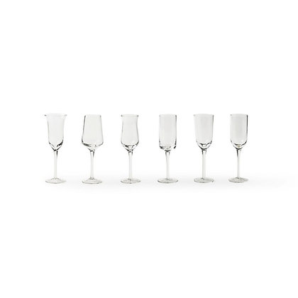 Set 6 Bicchieri Grappa Forme Assortite
