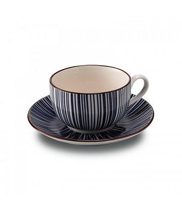 TUE Tazza da Tè con piattino in porcellana