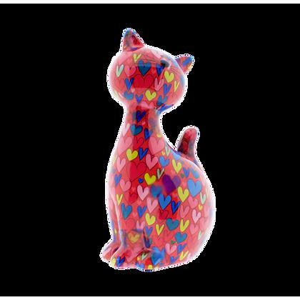 Salvadanaio Grande Gatto - Cuori