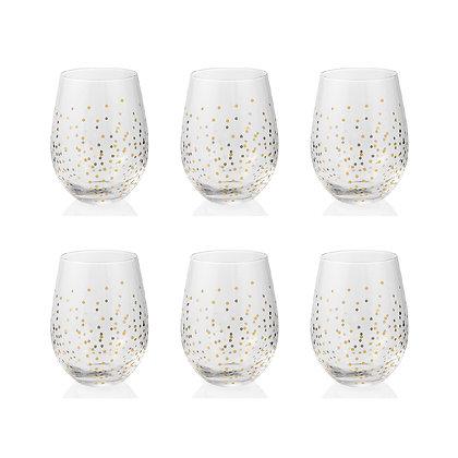 Set 6 Bicchieri acqua Glam