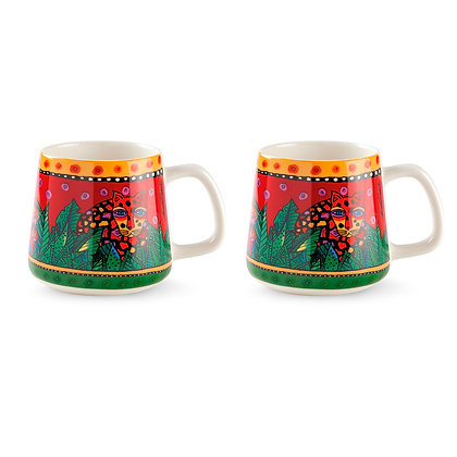 "Set 2 Mug ""Jungle"" - Rosse"