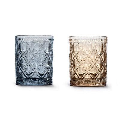 Set 4 bicchieri acqua in vetro colorato