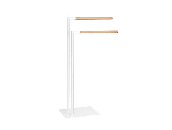Colonna Porta asciugamani Bianco/Legno