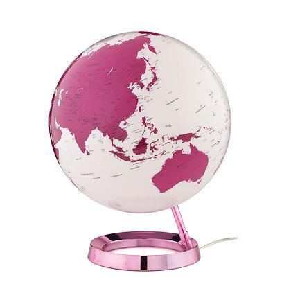 Mappamondo con Luce - HOT PINK
