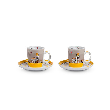 Set 2 tazzine Caffè Le Casette Grigio