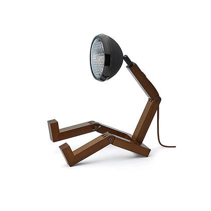 Lampada MR. WATTSON Grande - Matt Black (Legno scuro)