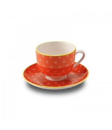 TUE Tazza da Caffè con piattino in porcellana