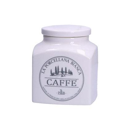 Barattolo con scritte grigie - Caffè