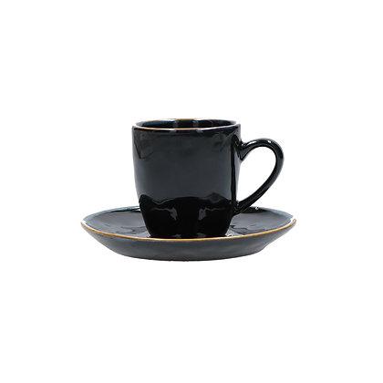 Tazza Caffè con piattino Concerto - Nero