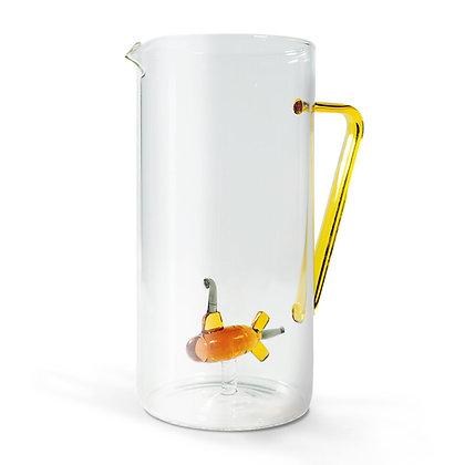 Brocca in vetro con soggetto - Yellow Submarine