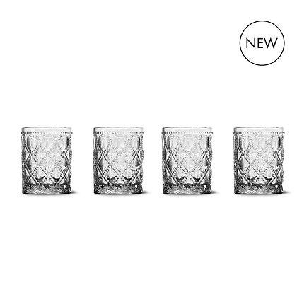 Set 4 bicchieri acqua in vetro colorato - Vari colori
