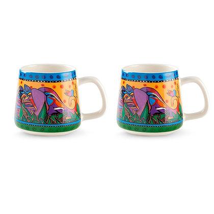 """Set 2 Mug """"Jungle"""" - Gialle"""