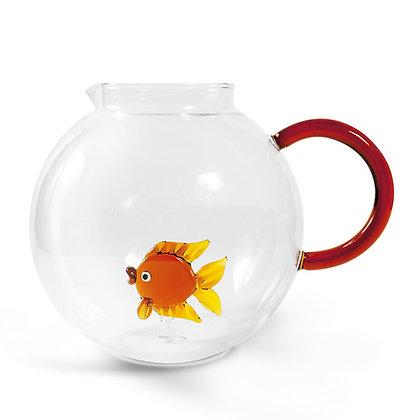 Brocca in vetro con animale - Pesciolino Rosso