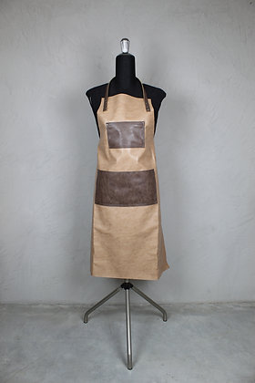Grembiule Clip & Cook Maxi con Pettorina - Sabbia