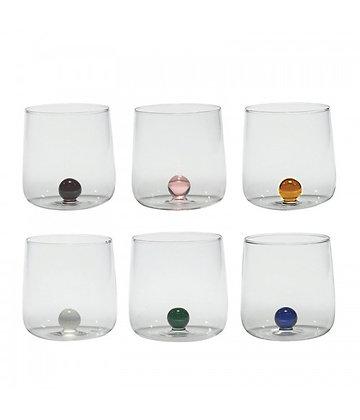 BILIA Bicchieri in vetro borosilicato Colori assortiti Set 6 pezzi