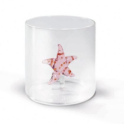 Bicchiere in vetro con soggetto - Sella Marina