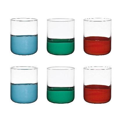 Set 6 Bicchieri acqua Colori Assortiti