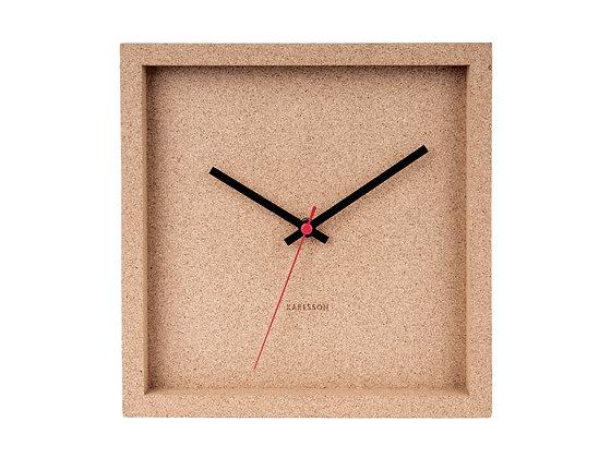 Orologio quadrato in sughero
