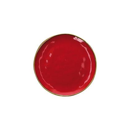 Piatto Frutta Concerto - Rosso