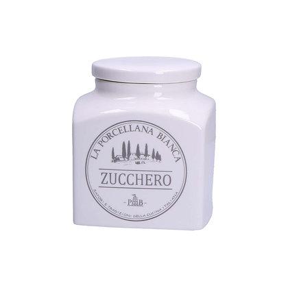 Barattolo con scritte grigie - Zucchero