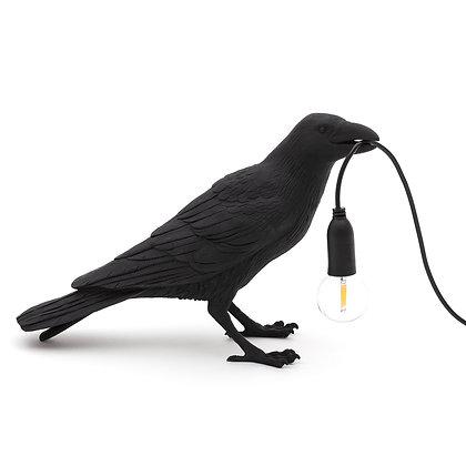 Bird Lamp Waiting Black