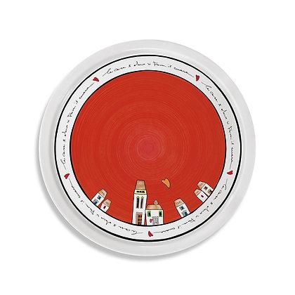 Piatto Pizza Le Casette Rosso