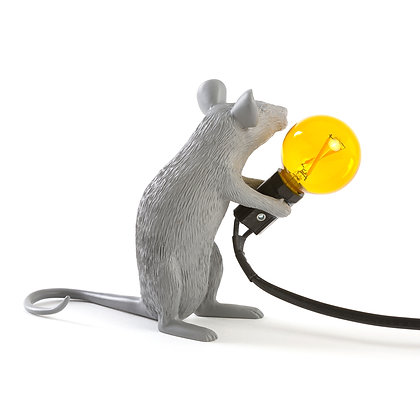 Mouse Lamp Grey Mac