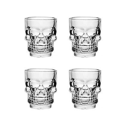 Set 4 bicchierini Teschio