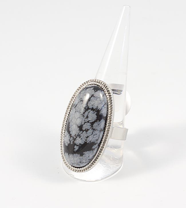 Кольцо из обсидиана