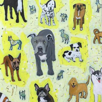 #3026 Twenty-one Dogs