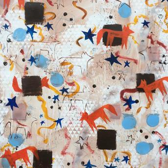 #3028 Fox and Stars