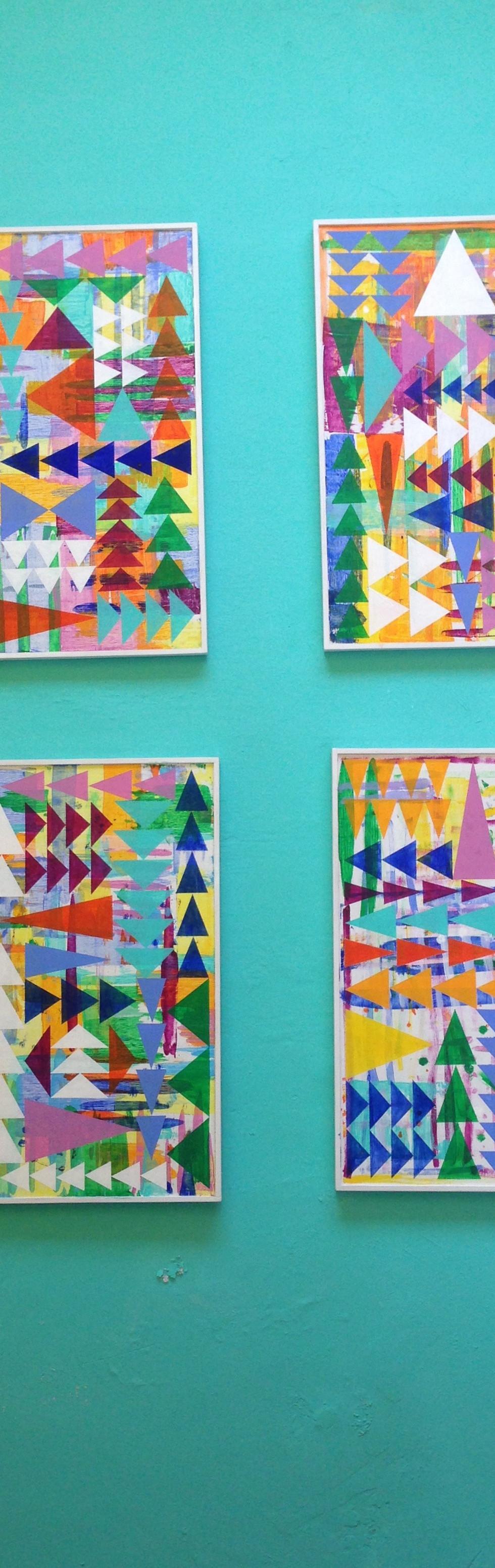 """Series of 4 31x31"""" paintings"""