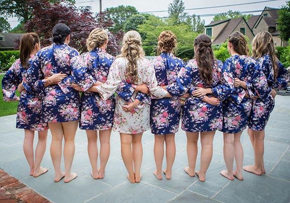 My beautiful bridal party ! #hairbyme #u