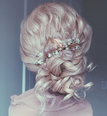 Texturized updo, inspired by @ulyana.ast