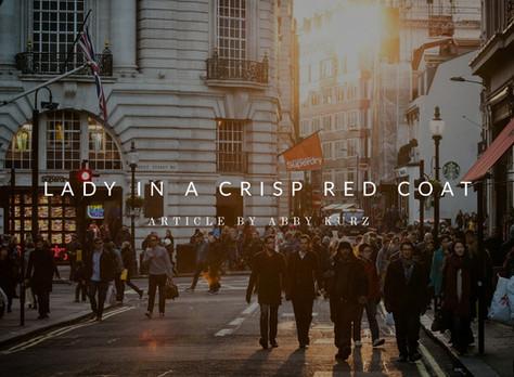 Lady In a Crisp Red Coat