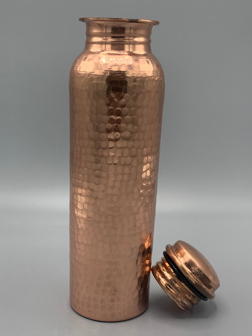 Hand stamped copper thermos